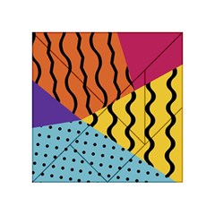 Background Abstract Memphis Acrylic Tangram Puzzle (4  X 4 )