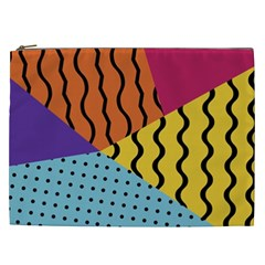 Background Abstract Memphis Cosmetic Bag (xxl)