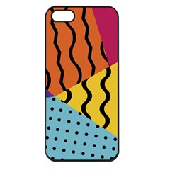 Background Abstract Memphis Apple Iphone 5 Seamless Case (black)