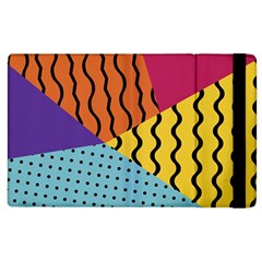 Background Abstract Memphis Apple Ipad 3/4 Flip Case