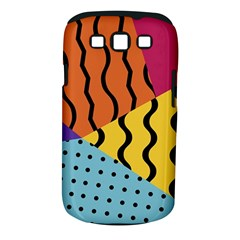 Background Abstract Memphis Samsung Galaxy S Iii Classic Hardshell Case (pc+silicone)