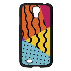 Background Abstract Memphis Samsung Galaxy S4 I9500/ I9505 Case (black)