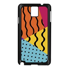 Background Abstract Memphis Samsung Galaxy Note 3 N9005 Case (black)