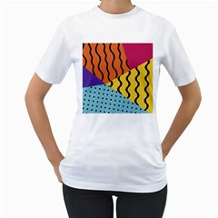 Background Abstract Memphis Women s T Shirt (white)