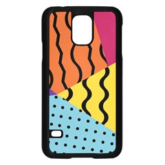 Background Abstract Memphis Samsung Galaxy S5 Case (black)