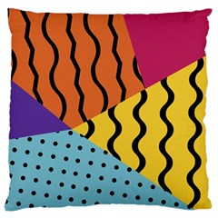 Background Abstract Memphis Standard Flano Cushion Case (two Sides)