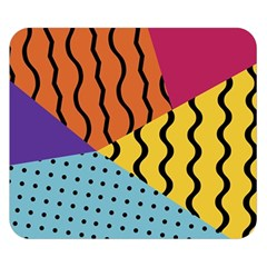 Background Abstract Memphis Double Sided Flano Blanket (small)