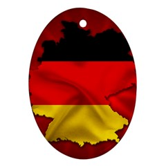 Germany Map Flag Country Red Flag Ornament (oval)