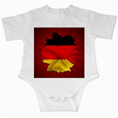 Germany Map Flag Country Red Flag Infant Creepers