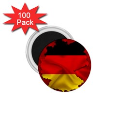 Germany Map Flag Country Red Flag 1 75  Magnets (100 Pack)  by Nexatart