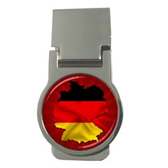 Germany Map Flag Country Red Flag Money Clips (round)