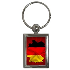 Germany Map Flag Country Red Flag Key Chains (rectangle)  by Nexatart