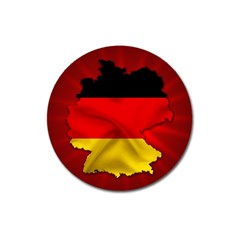 Germany Map Flag Country Red Flag Magnet 3  (round)