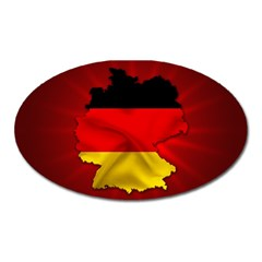 Germany Map Flag Country Red Flag Oval Magnet