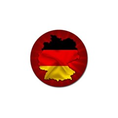 Germany Map Flag Country Red Flag Golf Ball Marker (4 Pack)