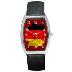 Germany Map Flag Country Red Flag Barrel Style Metal Watch