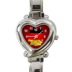 Germany Map Flag Country Red Flag Heart Italian Charm Watch