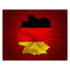 Germany Map Flag Country Red Flag Rectangular Jigsaw Puzzl