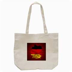 Germany Map Flag Country Red Flag Tote Bag (cream) by Nexatart