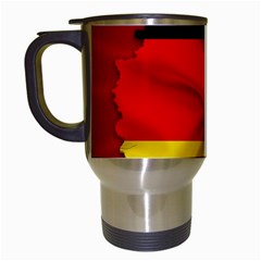 Germany Map Flag Country Red Flag Travel Mugs (white) by Nexatart