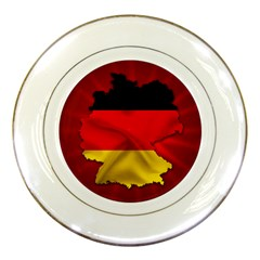 Germany Map Flag Country Red Flag Porcelain Plates