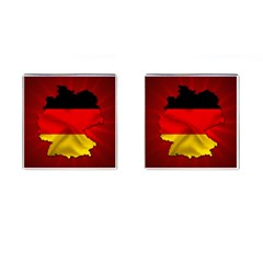 Germany Map Flag Country Red Flag Cufflinks (square)