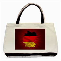 Germany Map Flag Country Red Flag Basic Tote Bag by Nexatart