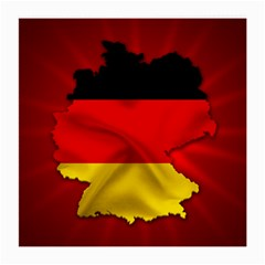 Germany Map Flag Country Red Flag Medium Glasses Cloth