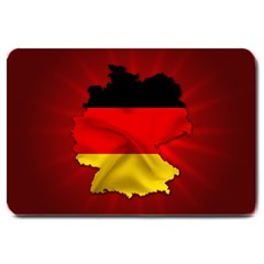 Germany Map Flag Country Red Flag Large Doormat