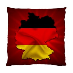 Germany Map Flag Country Red Flag Standard Cushion Case (one Side)