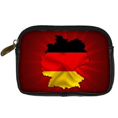 Germany Map Flag Country Red Flag Digital Camera Cases by Nexatart
