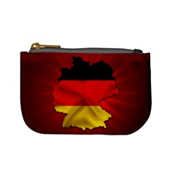Germany Map Flag Country Red Flag Mini Coin Purses