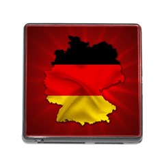 Germany Map Flag Country Red Flag Memory Card Reader (square)