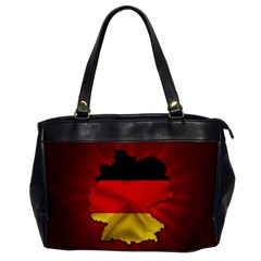 Germany Map Flag Country Red Flag Office Handbags