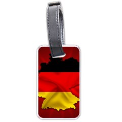 Germany Map Flag Country Red Flag Luggage Tags (one Side)