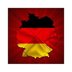 Germany Map Flag Country Red Flag Acrylic Tangram Puzzle (6  X 6 ) by Nexatart