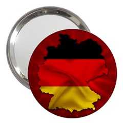 Germany Map Flag Country Red Flag 3  Handbag Mirrors