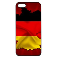 Germany Map Flag Country Red Flag Apple Iphone 5 Seamless Case (black)