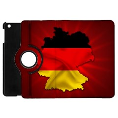 Germany Map Flag Country Red Flag Apple Ipad Mini Flip 360 Case by Nexatart