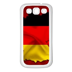 Germany Map Flag Country Red Flag Samsung Galaxy S3 Back Case (white)