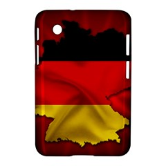 Germany Map Flag Country Red Flag Samsung Galaxy Tab 2 (7 ) P3100 Hardshell Case