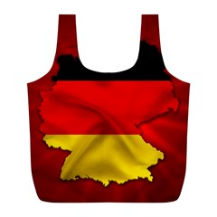 Germany Map Flag Country Red Flag Full Print Recycle Bags (l)