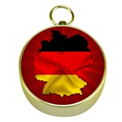 Germany Map Flag Country Red Flag Gold Compasses by Nexatart