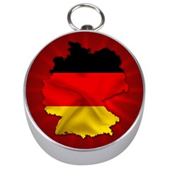 Germany Map Flag Country Red Flag Silver Compasses