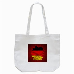 Germany Map Flag Country Red Flag Tote Bag (white)