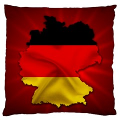 Germany Map Flag Country Red Flag Standard Flano Cushion Case (one Side) by Nexatart
