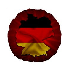 Germany Map Flag Country Red Flag Standard 15  Premium Flano Round Cushions
