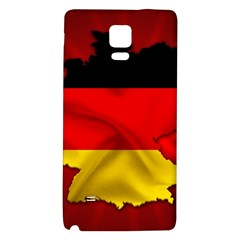 Germany Map Flag Country Red Flag Galaxy Note 4 Back Case