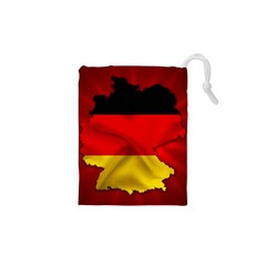 Germany Map Flag Country Red Flag Drawstring Pouches (xs)
