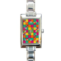 Squares Abstract Background Abstract Rectangle Italian Charm Watch